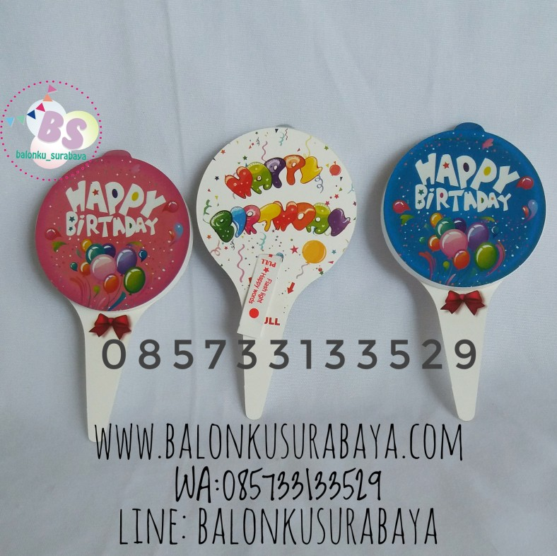 Cake Topper LED, party planner, dekorasi balon, distributor balon, balon print, balon promosi, balon gas