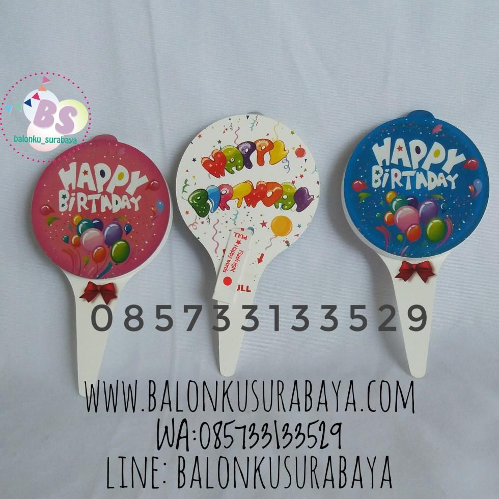 Cake Topper LED, party planner, dekorasi balon, distributor balon, balon print, balon promosi, balon gas