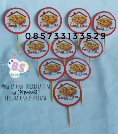 Cake topper Happy birthday, dekorasi balon, distributor balon, balon print, balon promosi, balon gas
