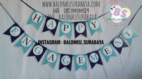 Bunting Flag Nama, party planner, dekorasi balon, distributor balon, balon print, balon promosi, balon gas