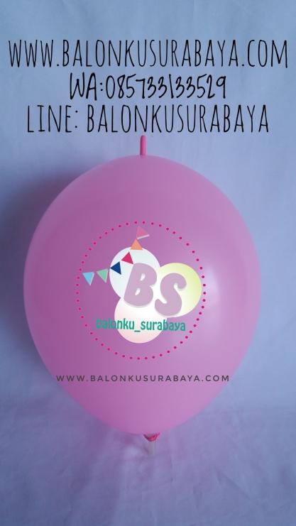 Balon Ekor Warna Hot Pink | Balonku Surabaya | 085733133529