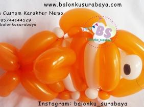 Jual balon custom karakter nemo, Jual Balon tongkat karakter, Jual balon foil, Jual balon latex, Balon sablon, Balon Custom, Dekorasi balon, Balon Promosi, Balon gas surabaya