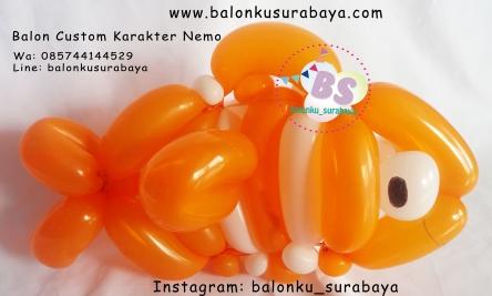 Balon Custom Karakter Nemo