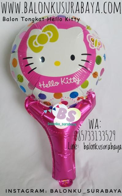 Jual Balon tongkat karakter Hello Kitty, Jual balon foil, Jual balon latex, Balon sablon, Balon Custom, Dekorasi balon, Balon Promosi, Balon gas surabaya