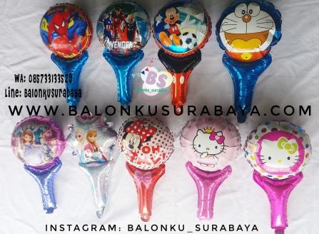 Jual Balon tongkat karakter, Jual balon foil, Jual balon latex, Balon sablon, Balon Custom, Dekorasi balon, Balon Promosi, Balon gas surabaya