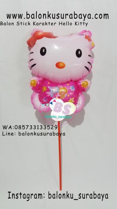 Jual Balon Stick Karakter Hello Kitty, Jual Balon tongkat karakter, Jual balon foil, Jual balon latex, Balon sablon, Balon Custom, Dekorasi balon, Balon Promosi, Balon gas surabaya