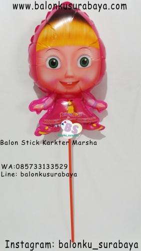 Jual Balon Stick Karakter Marsha, Jual Balon tongkat karakter, Jual balon foil, Jual balon latex, Balon sablon, Balon Custom, Dekorasi balon, Balon Promosi, Balon gas surabaya