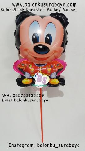 Jual Balon Stick Karakter Mickey Mouse, Jual Balon tongkat karakter, Jual balon foil, Jual balon latex, Balon sablon, Balon Custom, Dekorasi balon, Balon Promosi, Balon gas surabaya