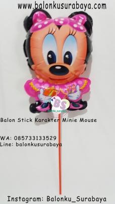 Jual Balon Stick Karakter Minie Mouse, Jual Balon tongkat karakter, Jual balon foil, Jual balon latex, Balon sablon, Balon Custom, Dekorasi balon, Balon Promosi, Balon gas surabaya