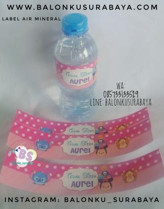 Jual Sticker Label Air Mineral Karakter Tsum Tsum, Jual Balon tongkat karakter, Jual balon foil, Jual balon latex, Balon sablon, Balon Custom, Dekorasi balon, Balon Promosi, Balon gas surabaya