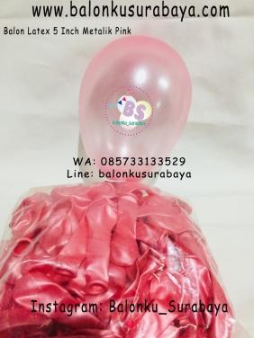 Jual Balon 5 Inch Metalik Pink, Dekorasi Ulang Tahun Anak Sederhana, Jual Balon tongkat karakter, Jual balon foil, Jual balon latex, Balon sablon, Balon Custom, Dekorasi balon, Balon Promosi, Balon gas surabaya