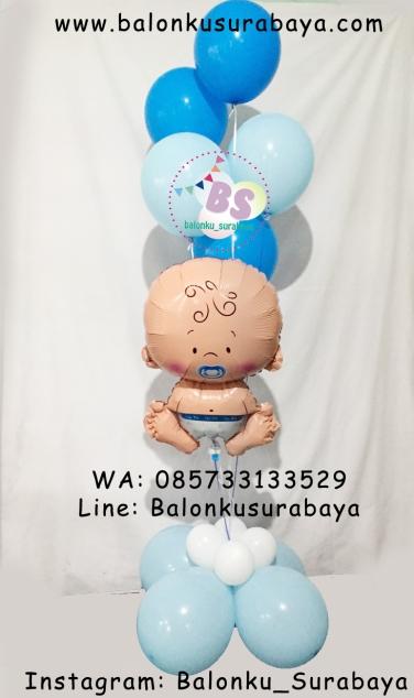 dekorasi balon bayi, dekorasi tedak siten, Jual Balon Sablon, Jual Balon Promosi, Dekorasi Ulang Tahun Anak Sederhana, Jual Balon tongkat karakter, Jual balon foil, Jual balon latex, Balon sablon, Balon Custom, Dekorasi balon, Balon Promosi, Balon gas surabaya