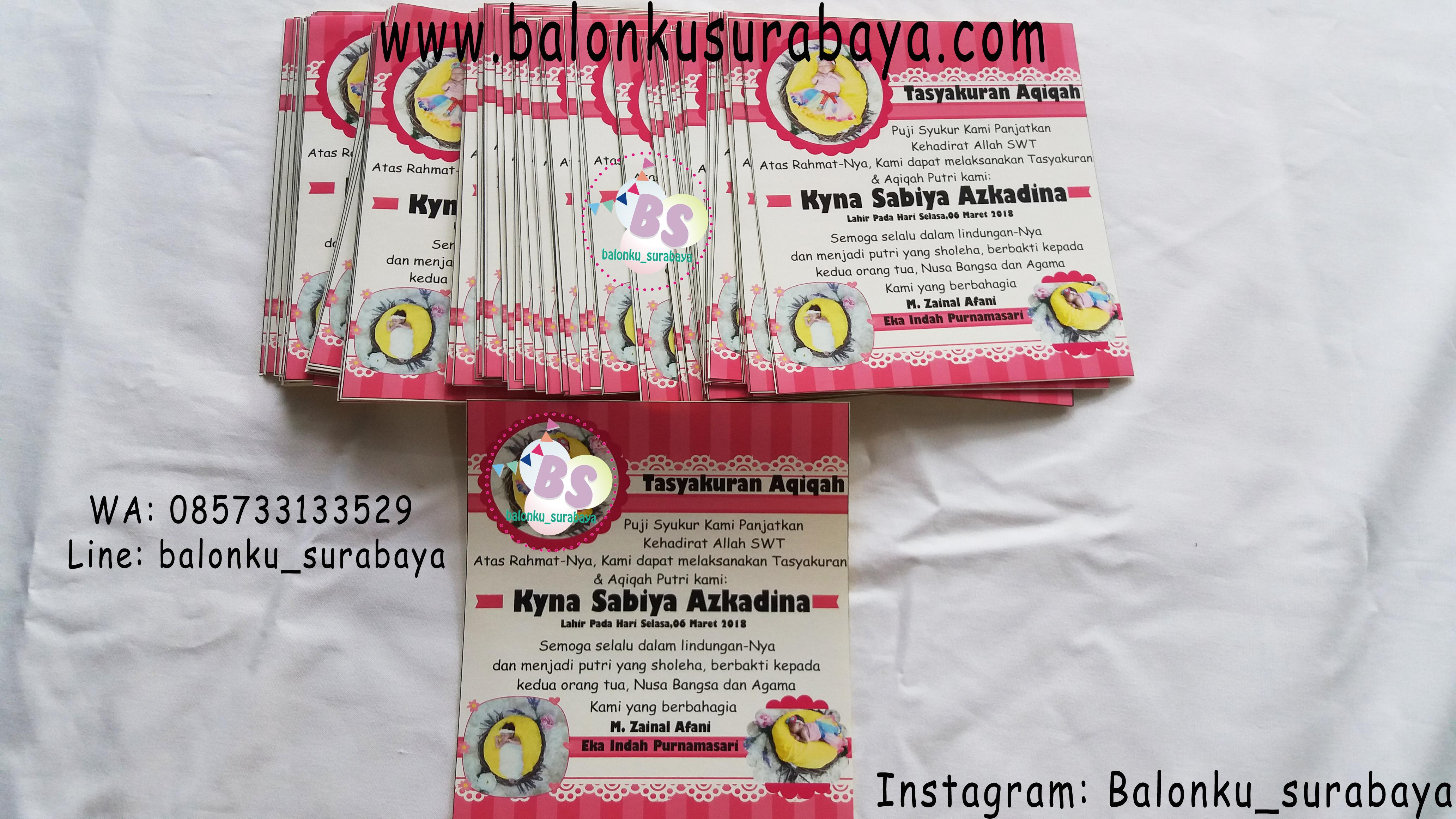 Stiker Label Aqiqah Custom Label Syukuran Tedak Siten Stiker Kelahiran Bayi Perempuan Balonku Surabaya