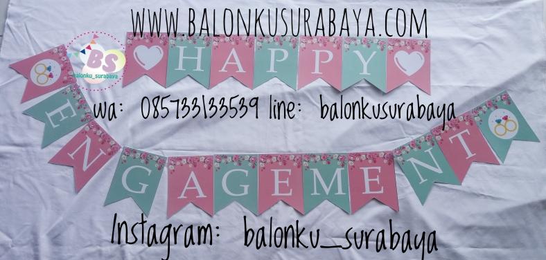 , jual tulisan dinding happy engagement, jual balon gas, toko balon surabaya, alamat toko balon, balon promosi, balon sablon, balon gate, balon print, dekorasi balon, balon dekorasi, balon ulang tahun, supplier balon, balon print