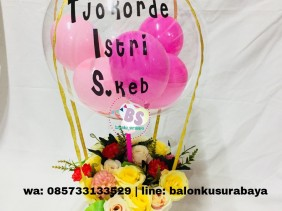 kado wisuda unik, kado wisuda, rangkaian bunga dan balon, hot air balloons,buket bunga surabaya, bunga surabaya, bunga box surabaya, balon tepuk, balon print, balon sablon, dekorasi balon, toko balon surabaya, balon latex doff, balon latex metalik