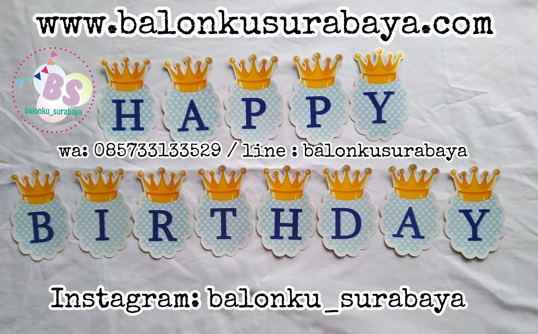 085733133529, bunting flag ulang tahun, tulisan dinding ulang tahun, flag banner ulang tahun, ulang tahun anak,balon custom, balon tepuk, balon sablon