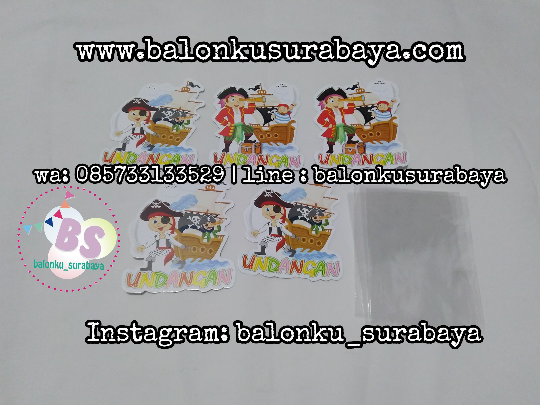 Undangan Ulang Tahun Anak Laki Laki Balonku Surabaya