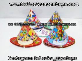 Topi Ulang tahun anak, Perlengkapan ulang tahun, Balon latex , balon doff, balon latex merah, balon doff merah, balon natal, balon agustusan, balon dekorasi, balonku Surabaya, 085733133529