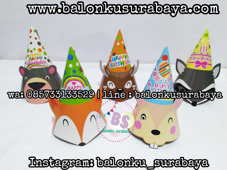 topi ulang tahun anak, topi ulang tahun. topi kerucut ulang tahun, topi ulang tahun murah, topi ulang tahun surabaya, balon tepuk, balon sablon, dekorasi balon, 085733133529