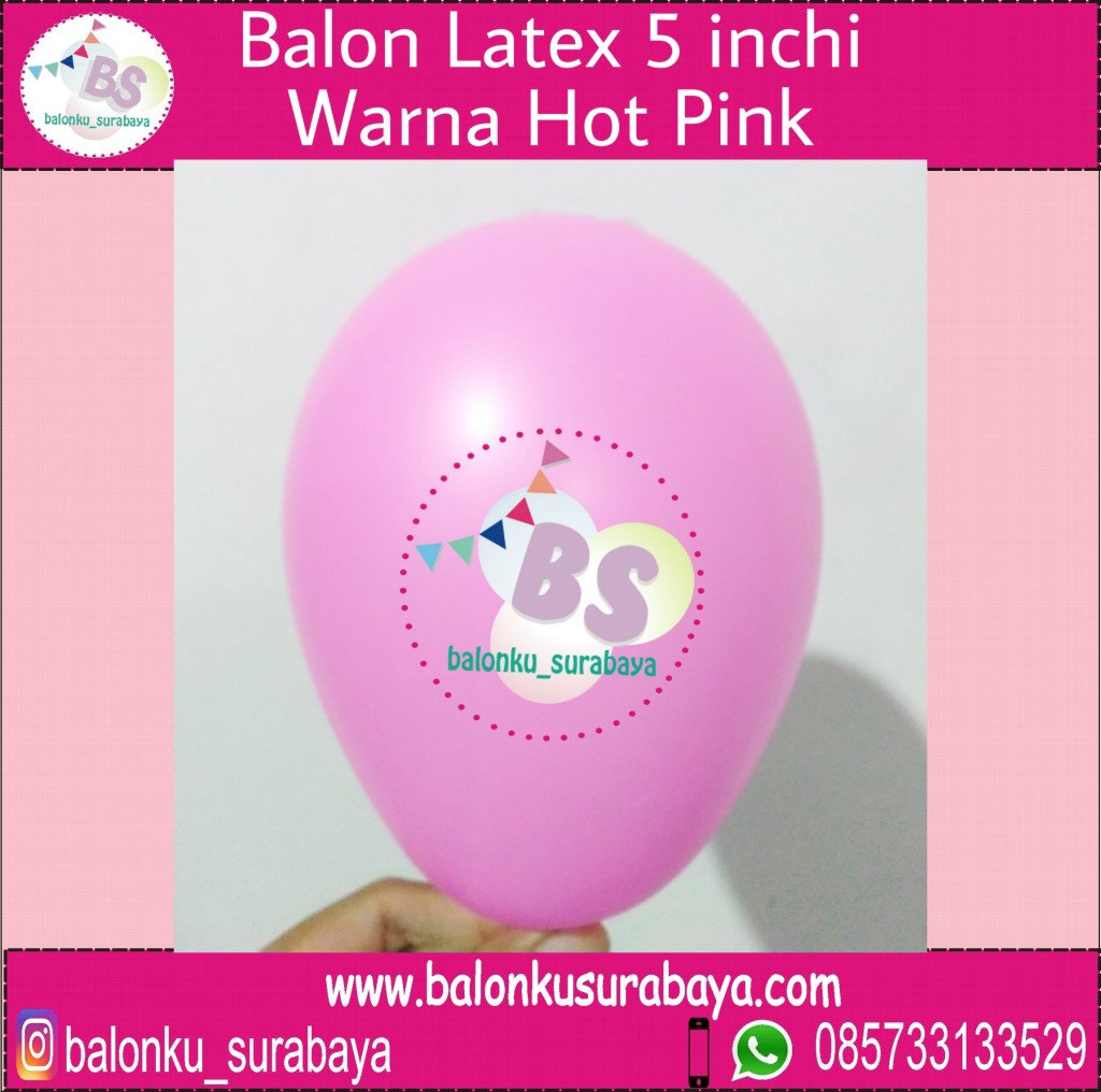 jual balon latex 5 inch hot pink, BAlon Gas,Bunga dekorasi,Rangkaian bunga artificial, Buket bunga, buket bunga mawar, harga buket bunga,Balon sablon, balon Printing, balon promosi, , Perlengkapan ulang tahun, Balon latex , balon doff, balon latex, balon doff merah, balon natal, balon agustusan, balon dekorasi, balonku Surabaya, 085733133529