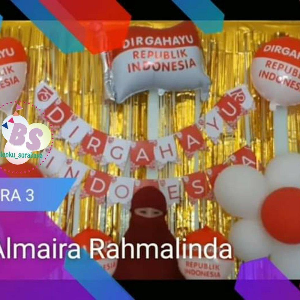 Dekorasi Balon dirgahayu indonesia, dekorasi balon 17 agustus, jual balon latex twist hijau emerald, BAlon Gas,Bunga dekorasi,Rangkaian bunga artificial, Buket bunga, buket bunga mawar, harga buket bunga,Balon sablon, balon Printing, balon promosi, Perlengkapan ulang tahun, Balon latex , balon doff, balon natal, balon agustusan, balon dekorasi, balonku Surabaya, 085733133529
