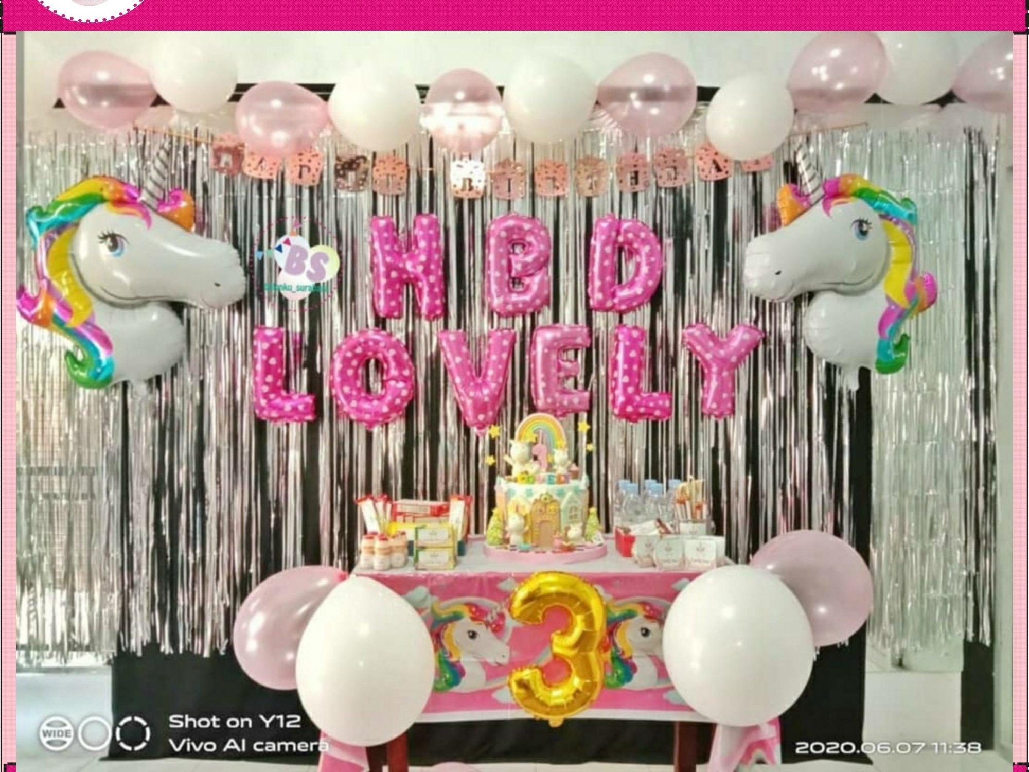 dekorasi ulang tahun anak unicorn , jual balon latex twist hijau emerald, BAlon Gas,Bunga dekorasi,Rangkaian bunga artificial, Buket bunga, buket bunga mawar, harga buket bunga,Balon sablon, balon Printing, balon promosi, Perlengkapan ulang tahun, Balon latex , balon doff, balon natal, balon agustusan, balon dekorasi, balonku Surabaya, 085733133529